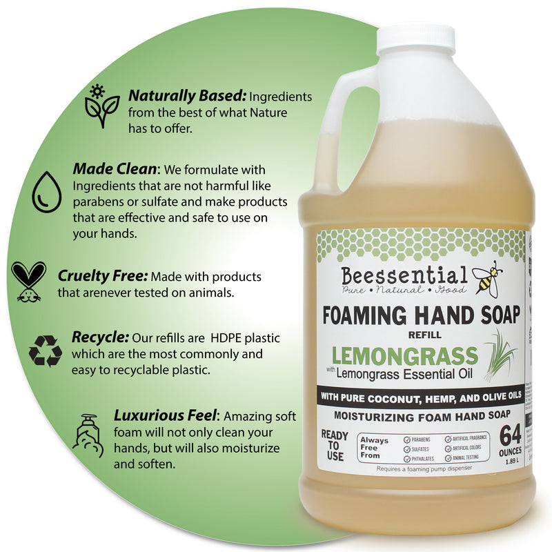 Lemongrass  Foaming Soap Refill