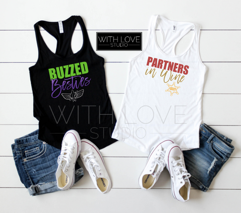 Buzzed Besties & Partners in Wine | Toy Story Inspired