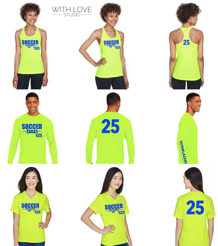 Sunblazers Soccer Family Shirts