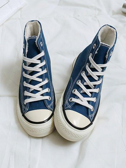 High Top Solid Canvas Sneaker Shoes