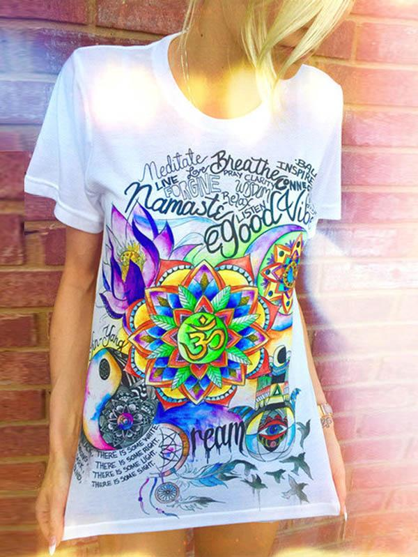 Colorful Picture Printed T-shirt