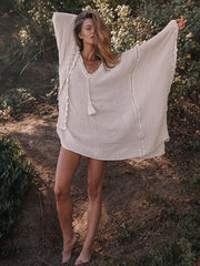 Bohemia V-neck Kaftan Mini Dress