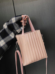 Silica Gel Solid One-shoulder Crossbody Bag