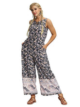 Straight Leg Printed Jumpsuits