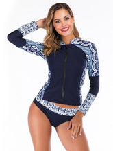 Zipper Printing Two Pieces Wetsuit