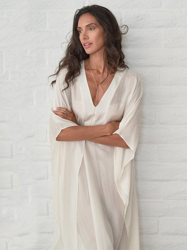 V-neck See-through Loose Cover-ups Swimwear