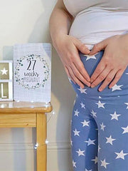 Maternity Printed Elastic Waistband  Casual Pants Bottoms