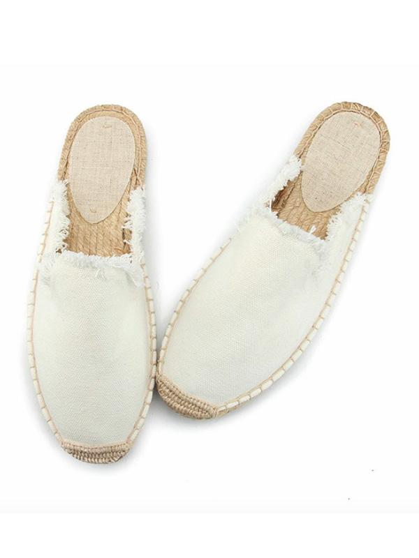 Solid Canvas Fisherman Slippers