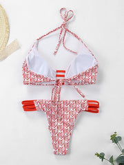 Red Heart Cute Bikinis Swimwear