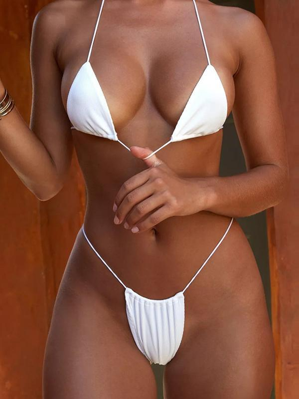6 Colors Plain Bikinis Swimwear