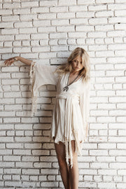 Solid Color Tasseled Cardigan Bohemia Dresses