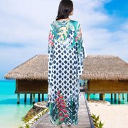 Multicolor Printed Loose Summer Maxi Dress Cover Ups