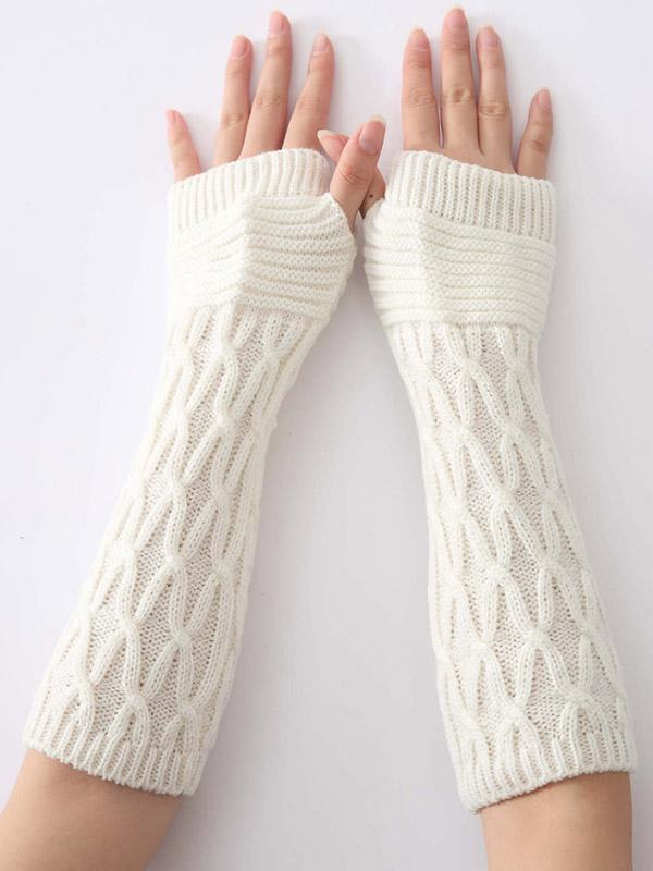 Knitted Half Finger 6 Colors Sleevelet Accessories