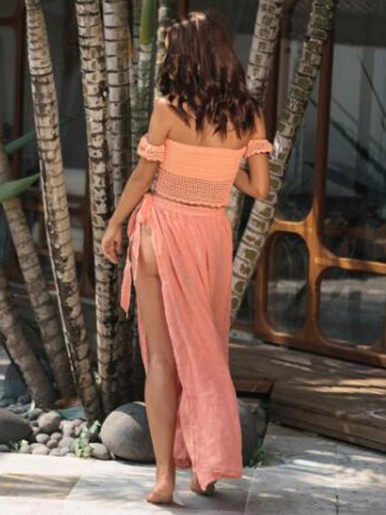Split-front Lace Up Beach Skirt Bottom