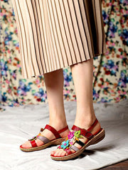 Comfort Cow Leather Flat Sandal