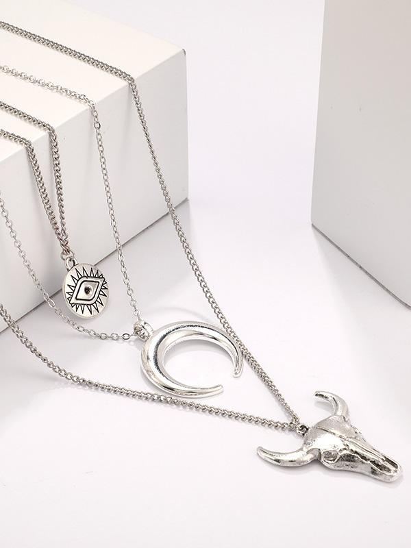 Three-layer Horn Eye Ox-head Necklaces