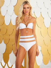 V Wired Gauze High Waisted Bikini Set