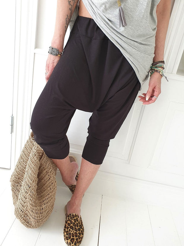 Plus Size Pockets Casual Solid Pants