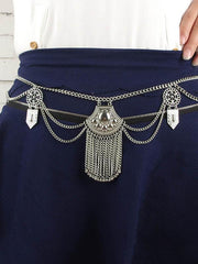 Sexy Bohemia Carving Tassels Waist Chain Accessories