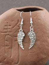 Personalized Retro Minimalist Angel Wings Pendant Earrings