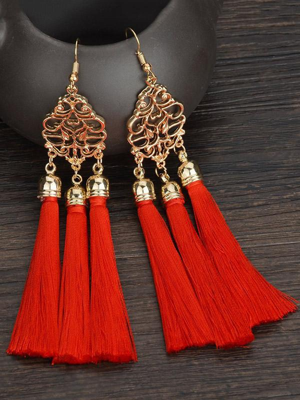 Fashion National Tasseled Earrings