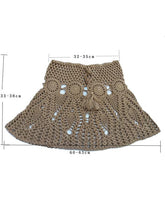 Sexy Hollow Crochet A-Line Skirt Bottom