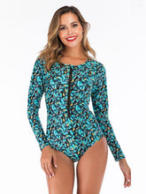 Floral Printed Fashion One Piece Wetsuit