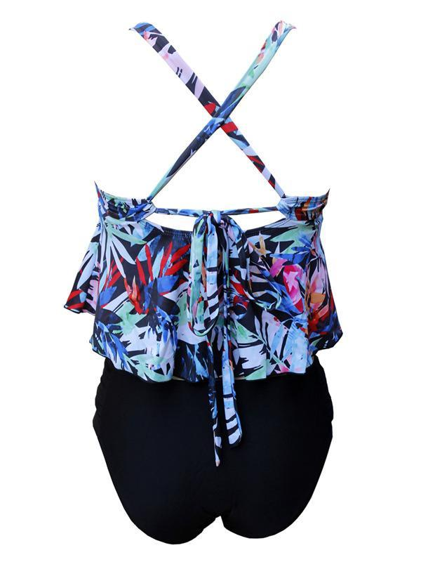 Printed Plus Size Tankinis Swimwear