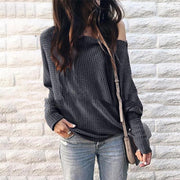 Long Sleeve Off-Shoulder T-shirt