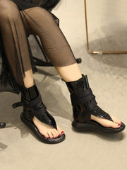 Black High Top Flip Gladiator Sandals