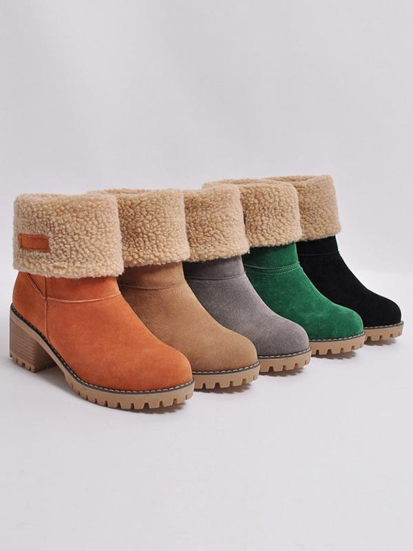 Chunky Mid Calf Winter&Snow Boots