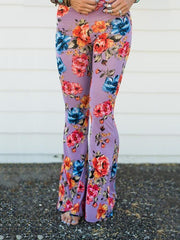 Popular Floral Printed Bell-Bottom Pant