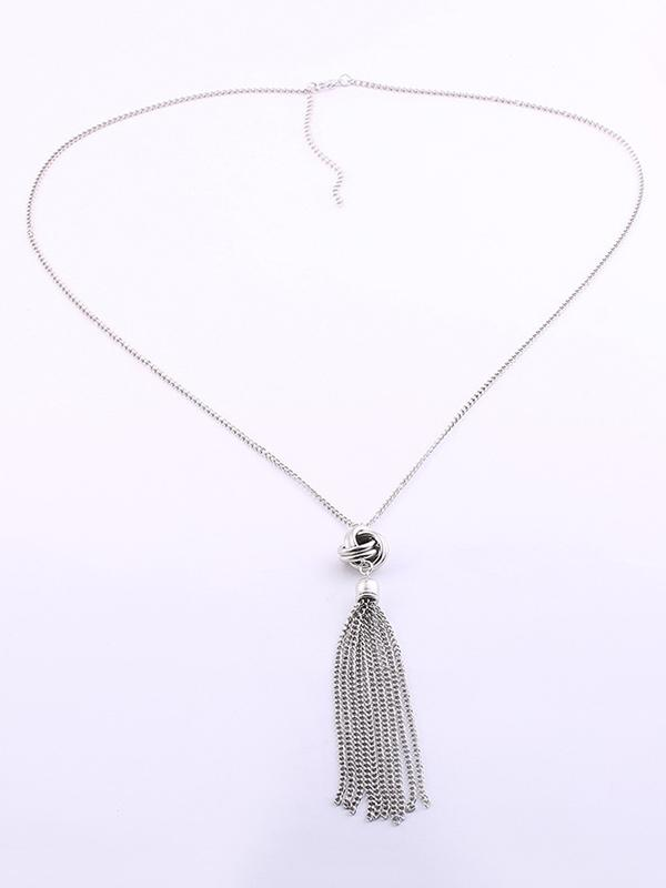 Fashion Metal Tasseled Necklace
