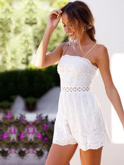 Lace Hollow Sling Romper
