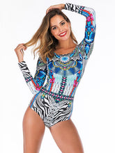 Tropical Printed Fashion One Piece Wetsuit
