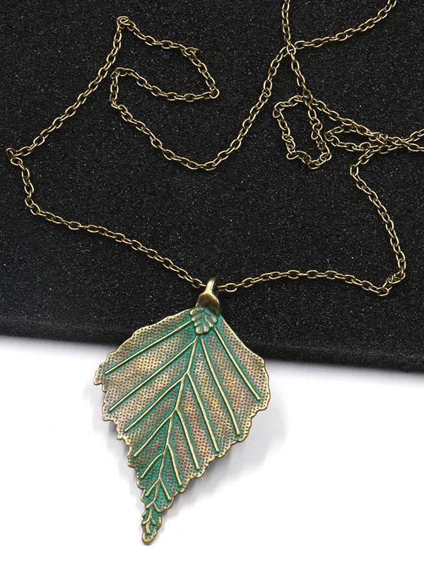 Vintage Leaf Alloy Necklaces Accessories