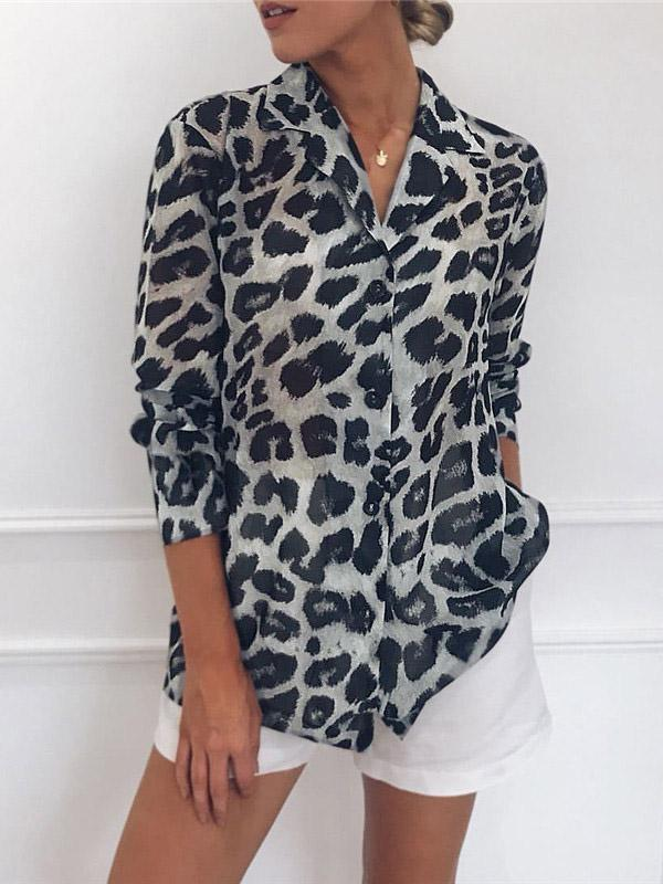 Leopard Sexy Blouse Top