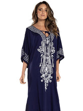 Loose Cotton Printed Cover-ups Swimsuit