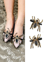 Spider Pattern DIY Shoes Decoration