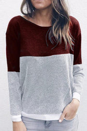 Autumn  Casual  Backless  Patchwork Sweaters
