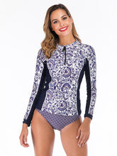 Printing Zipper Collar Two Pieces Wetsuit