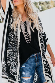 Snap Front Print Cardigans