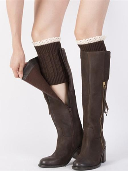 Popular Lace Solid Color Leg&Ankle Warmers