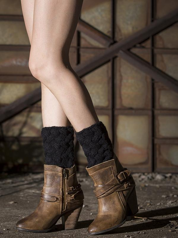 Popular Solid Color Twist Leg&Ankle Warmers