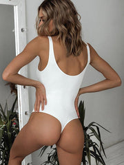 Sexy Pure Color One-piece Bikinis Swimsuit