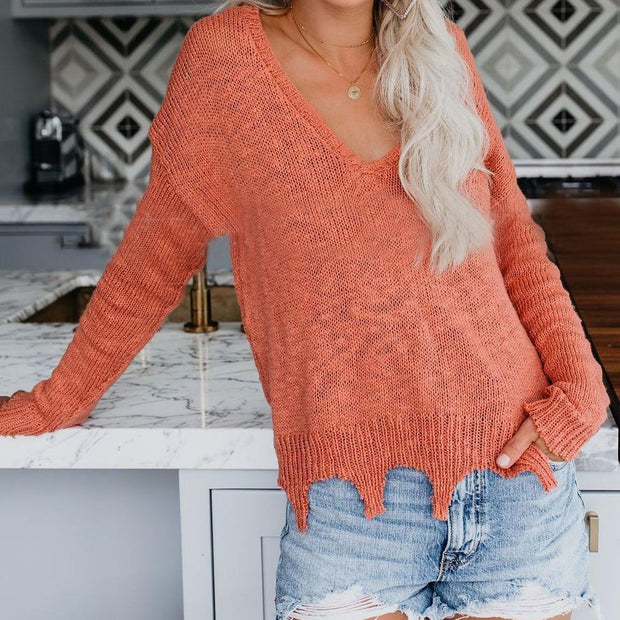 Fashion Long Sleeve Sweater Top