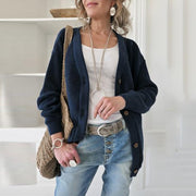 Women's Casual Comfortable Solid Color Single-Breasted Cardigan