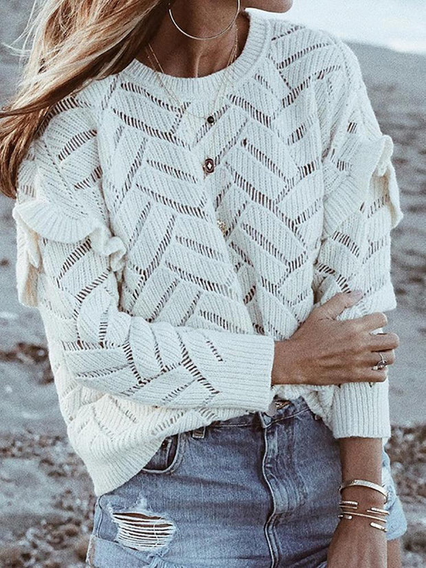 Stylish And Comfortable White Sweater