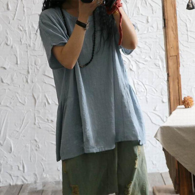 Solid Color Cotton And Comfortable Loose Top