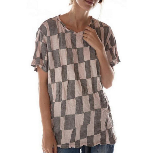Casual And Comfortable Geometric Print Top